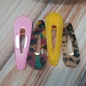 ❤Old Navy Acrylic Hair Clips set of 4